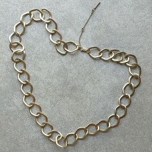 Kenneth Cole long chunky hoop, gold-tone necklace
